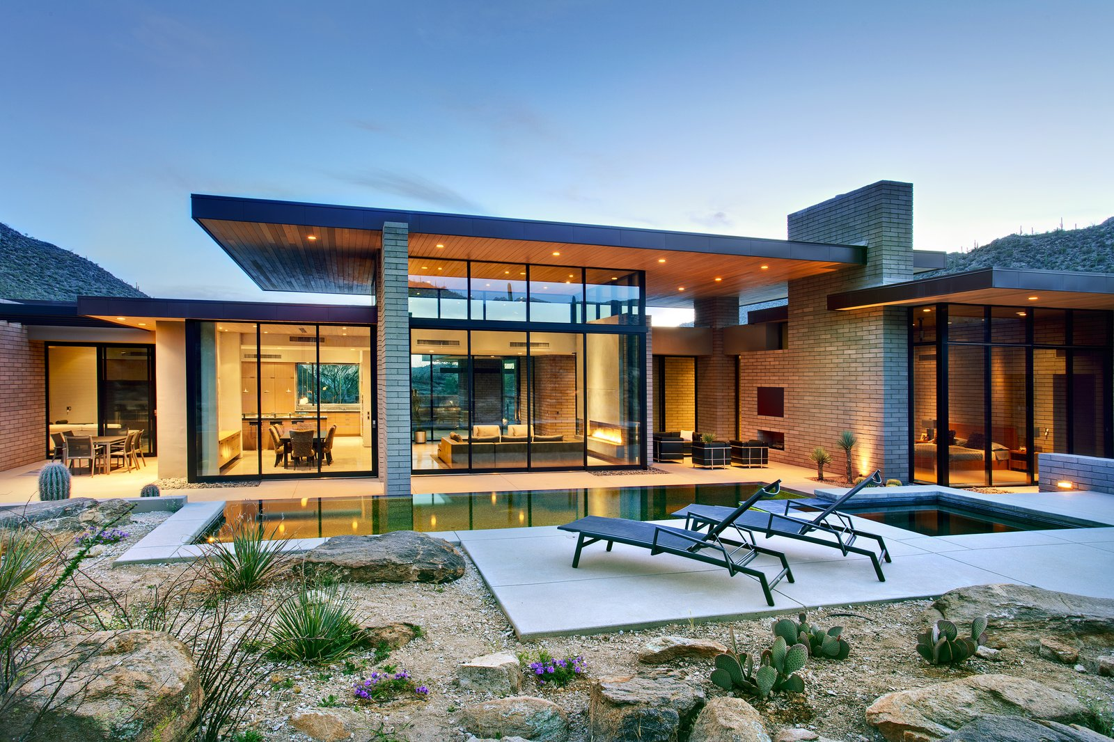 Outdoor, Back Yard, Desert, Boulders, Small Pools, Tubs, Shower, Large Pools, Tubs, Shower, Small Patio, Porch, Deck, Infinity Pools, Tubs, Shower, and Standard Construction Pools, Tubs, Shower  Desert Mountain Home by Kevin B Howard Architects