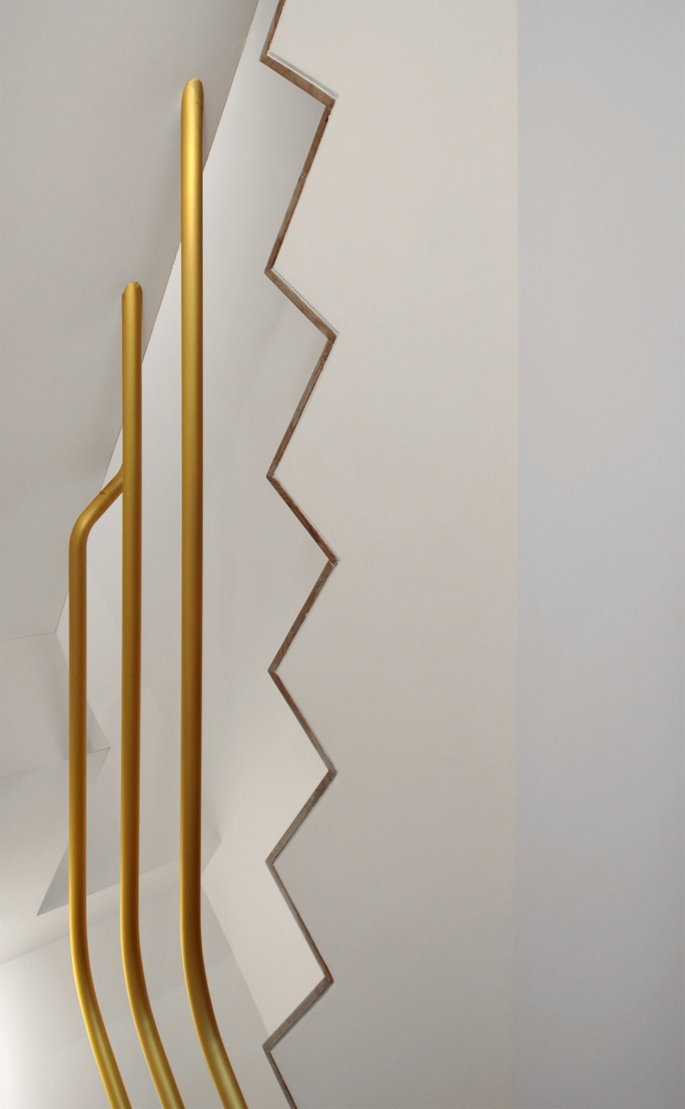 Staircase, Wood Tread, and Metal Railing  cdr