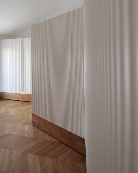 Tagged: Bedroom, Wardrobe, Dresser, Storage, Accent Lighting, and Light Hardwood Floor.  cdr by tissellistudioarchitetti