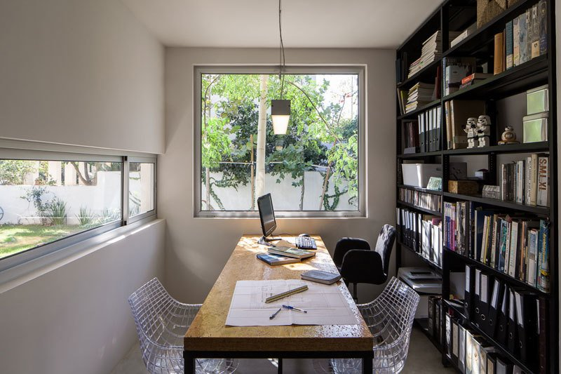 Office, Chair, Bookcase, Study Room Type, Storage, Lamps, Shelves, and Desk  Urban Life In The Country