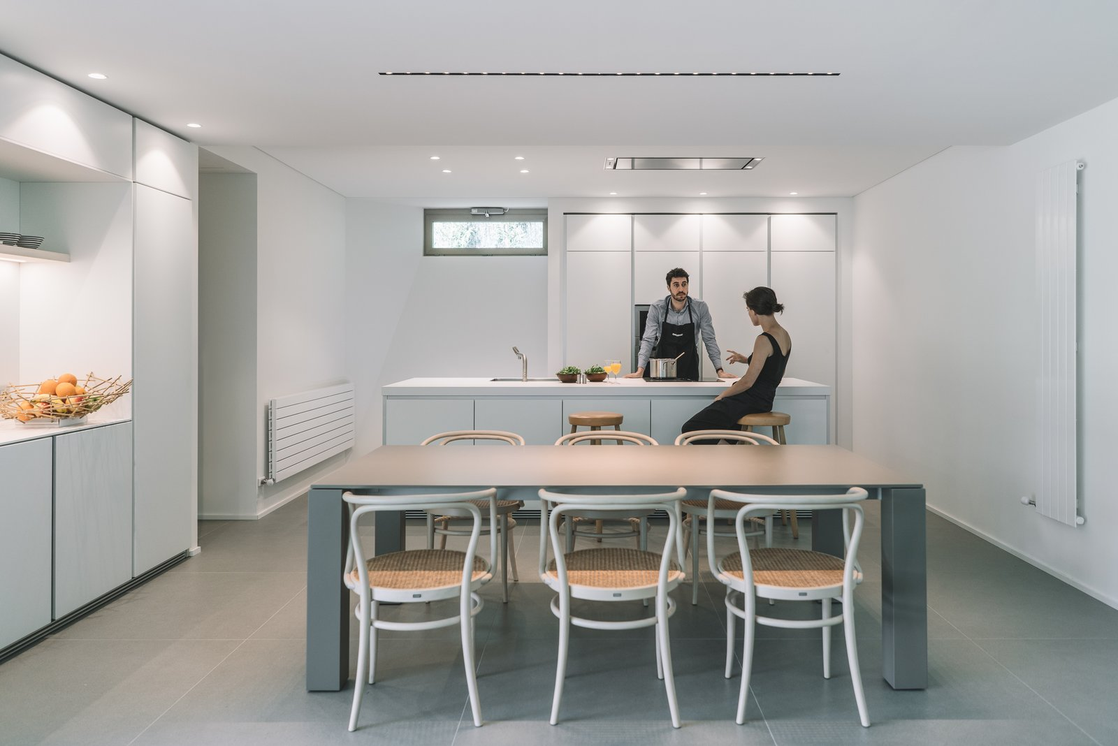 Kitchen, Ceiling, White, Porcelain Tile, Laminate, Wall Oven, and Drop In  Best Kitchen Drop In Wall Oven Porcelain Tile Photos from The Öcher House