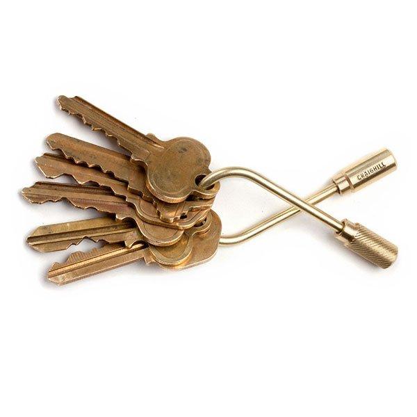 Brass Closed Helix Keyring