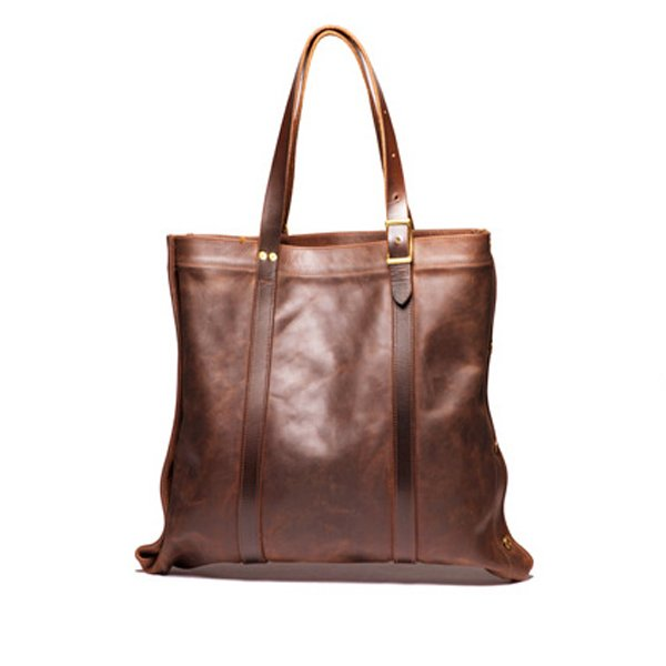 Leather & Brass Tote (Brown)
