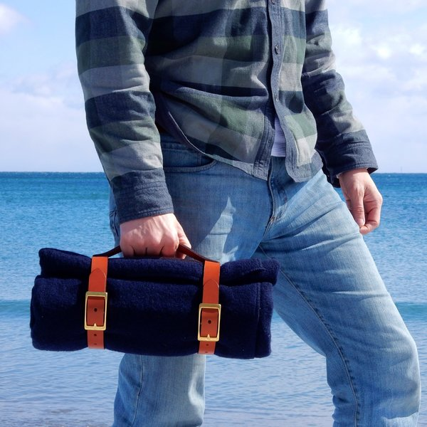The Henry David Throw with Leather Strap Carrier