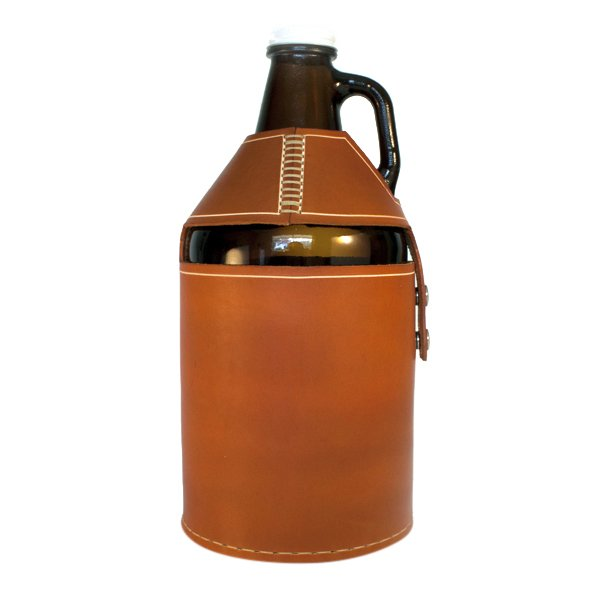 Leather Growler Cover