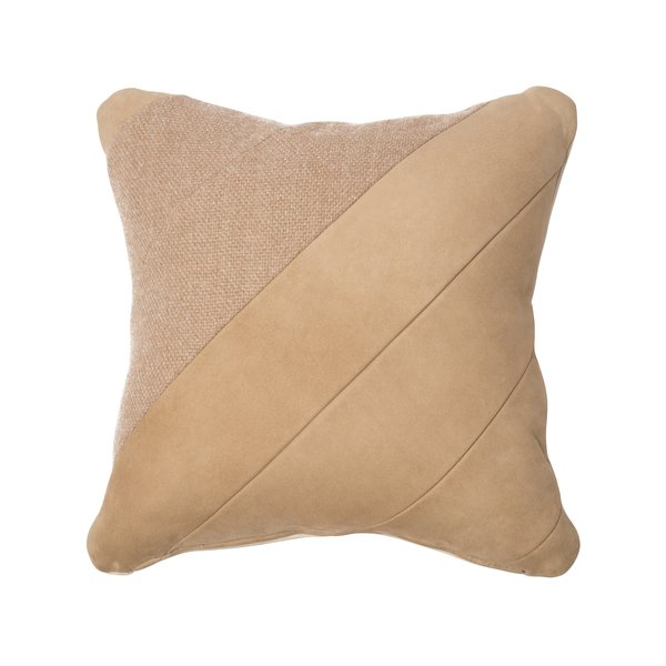 "Alpaca & Suede Pillow ""Elah"""