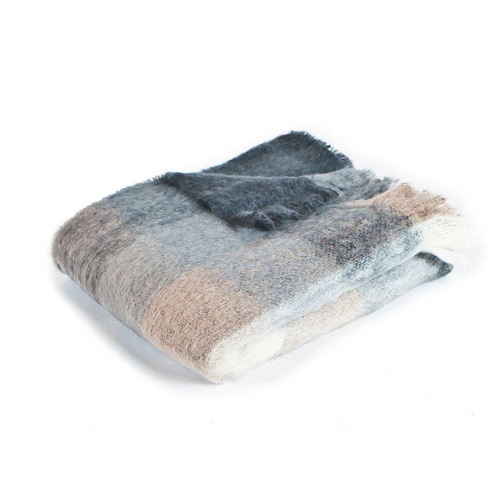 Charcoal, White & Mink Check Mohair by Kaufmann Mercantile - Dwell Charcoal, White & Mink Check Mohair by Kaufmann Mercantile - 웹