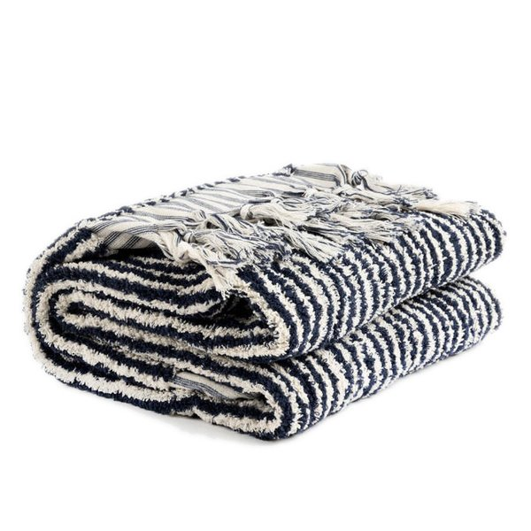 Hand-Loomed Pom Pom Towel
