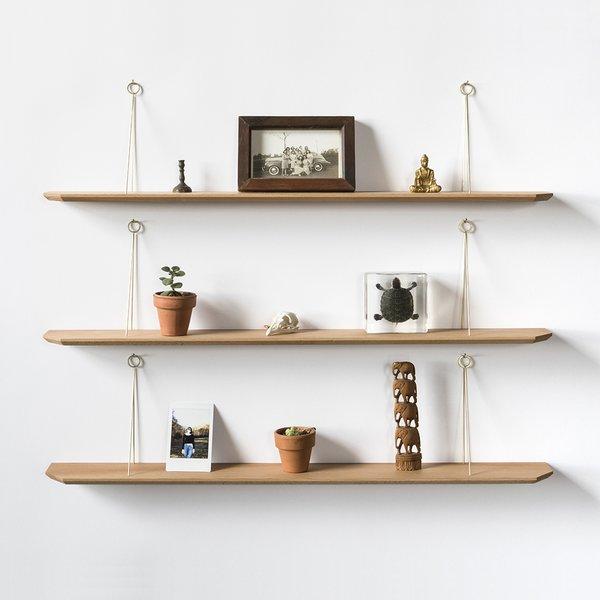 Maple & Brass Hanger Shelf