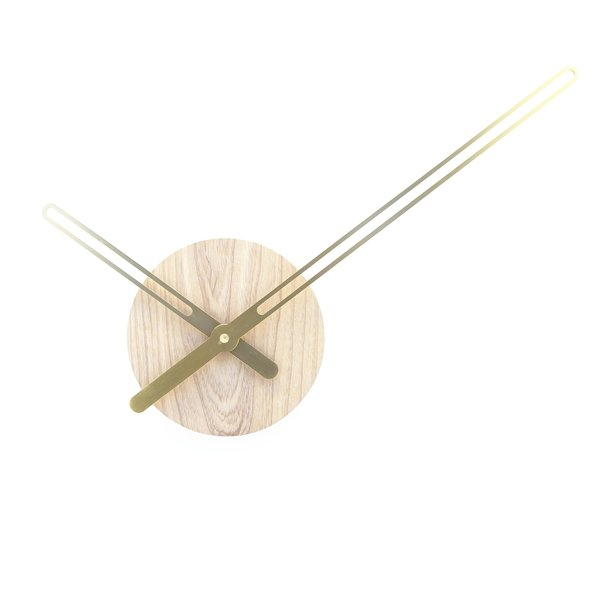 Nordahl Konings Sweep Wall Clock in Ash and Brass