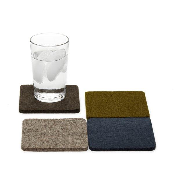Bierfilzl Square Coasters (Four Pack)