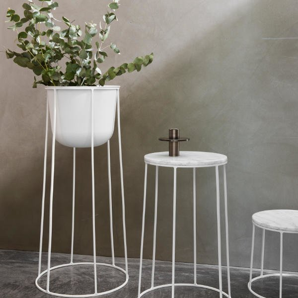 Marble & Wire End Table
