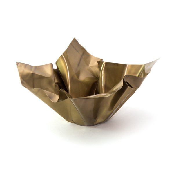 "Sculptural Brass Bowl ""Paper Bowl 1"""