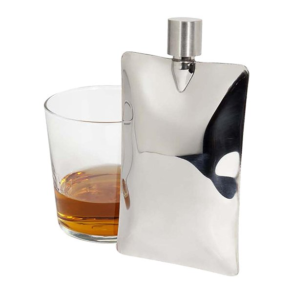 Areaware Liquid Metal Pocket Flask