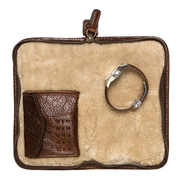 Moore & Giles Fine Leather and Shearling Accessories Case