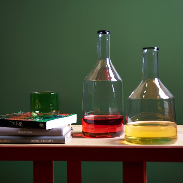 """Torri"" blown glass carafe"