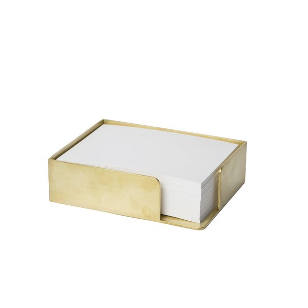 Brass Memo Box