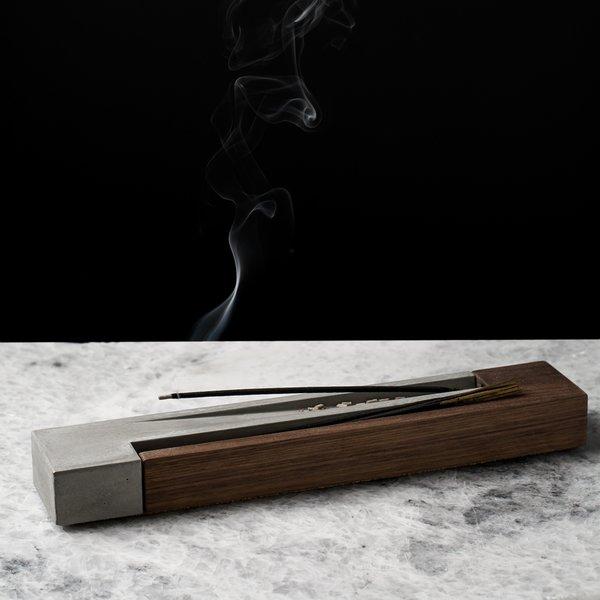 Wood & Concrete Incense Burner