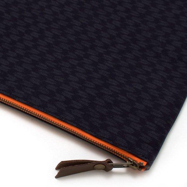Japanese Ikat & Waxed Canvas Laptop Sleeve/ Carryall-Large