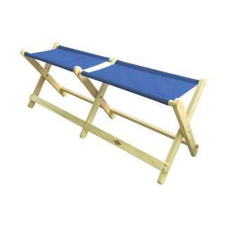 "Wood & Canvas Folding Bench ""Voyager """
