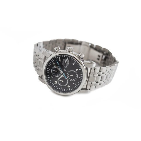 Monaco Stainless Steel Chronograph Watch with Stainless Steel Band
