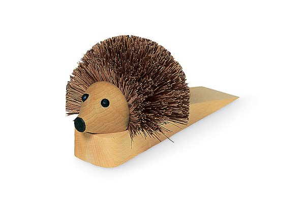 Shoe Cleaning Hedgehog Doorstop