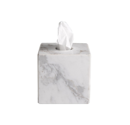 Gaston Marble Tissue Box Cover