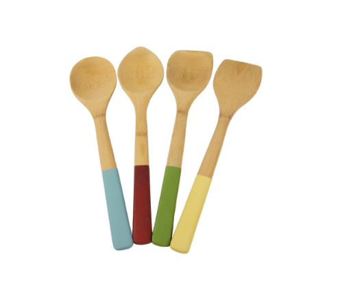4 Piece Bamboo Cooking Spoon/Tool Set