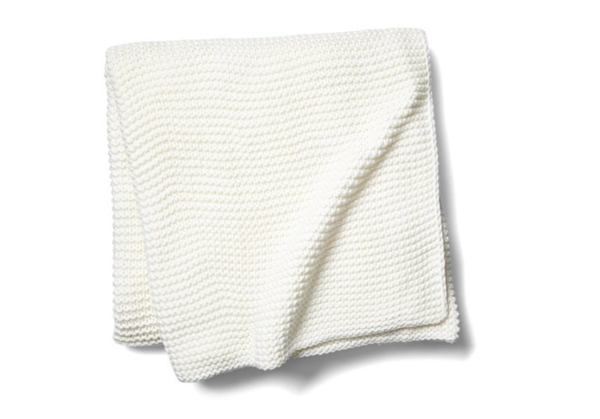North Branch Cotton Throw, White
