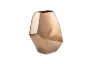 John-Richard Angular Vase in Gold