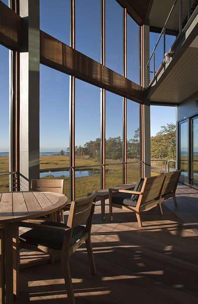 Outdoor, Large Patio, Porch, Deck, Metal Patio, Porch, Deck, Small Patio, Porch, Deck, Back Yard, Wood Patio, Porch, Deck, and Decking Patio, Porch, Deck  Marsh House by McInturff Architects