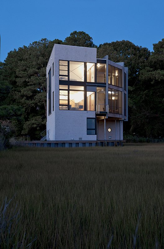 Exterior, Wood Siding Material, Metal Roof Material, and House Building Type  Marsh House by McInturff Architects