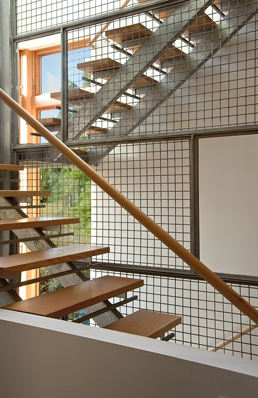 Staircase, Wood Railing, Wood Tread, and Metal Railing  Marsh House by McInturff Architects