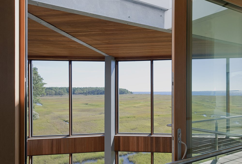 Windows, Wood, Picture Window Type, and Sliding Window Type  Marsh House by McInturff Architects