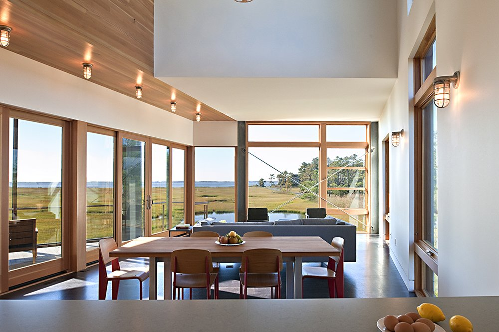 Dining Room, Cork Floor, Chair, Wall Lighting, and Table  Marsh House by McInturff Architects