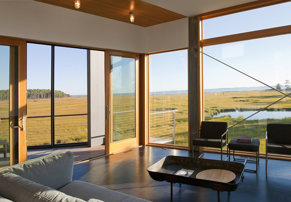 Doors, Sliding Door Type, Exterior, Interior, and Wood  Marsh House by McInturff Architects