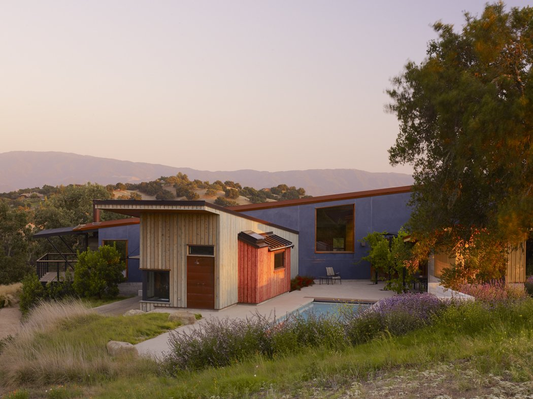 Outdoor, Trees, Grass, Back Yard, Small Pools, Tubs, Shower, Shrubs, Swimming Pools, Tubs, Shower, and Small Patio, Porch, Deck  Santa Ynez House by Fernau & Hartman Architects