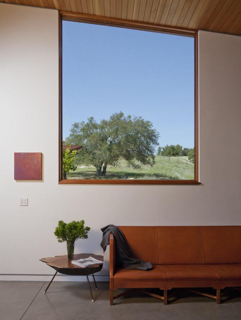 Living Room, Sofa, and Concrete Floor  Santa Ynez House by Fernau & Hartman Architects