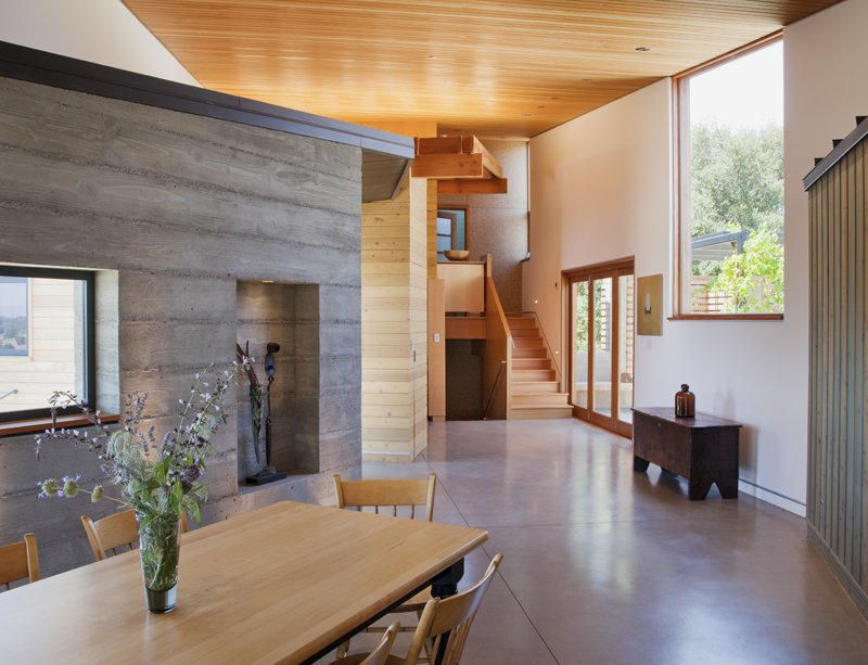Dining Room, Concrete Floor, Chair, and Table  Santa Ynez House by Fernau & Hartman Architects