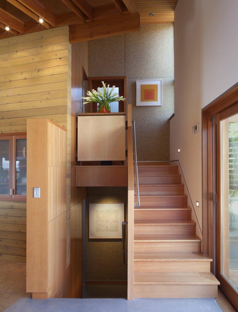 Staircase and Wood Tread  Santa Ynez House by Fernau & Hartman Architects