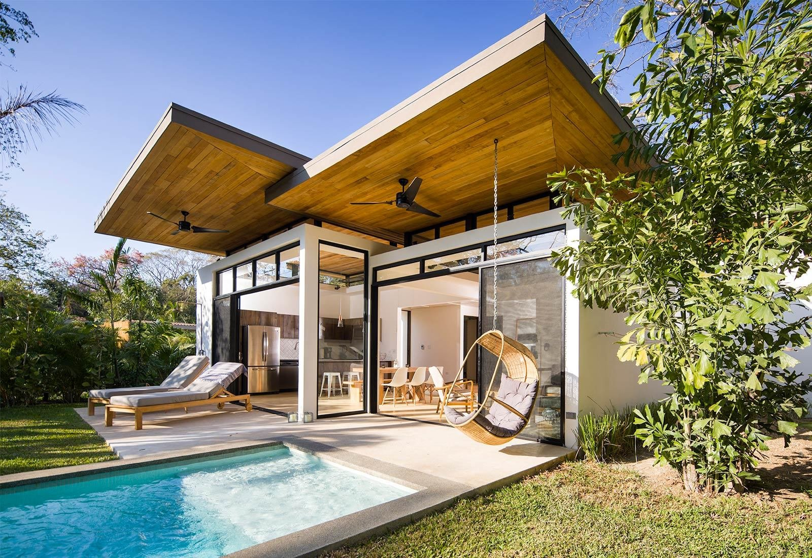 Outdoor, Small Pools, Tubs, Shower, Trees, Grass, and Back Yard  Nalu by Studio Saxe