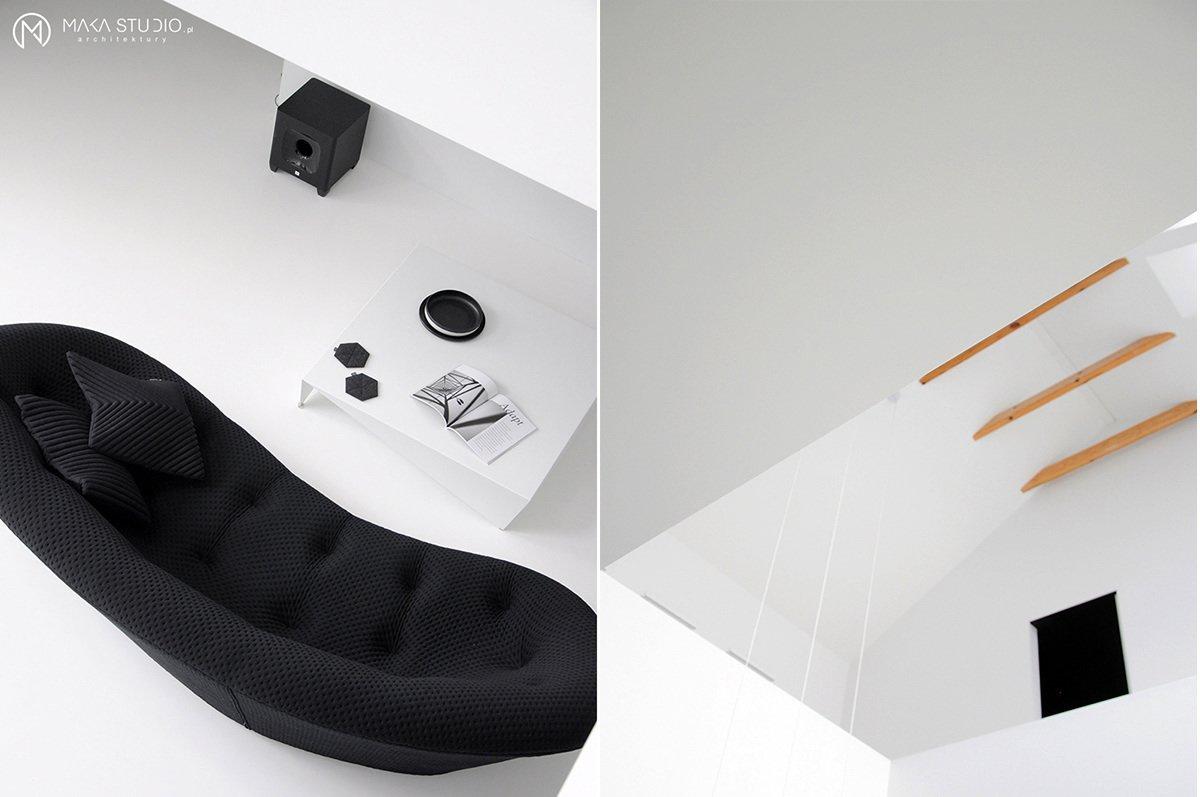 Living Room, Sofa, and Coffee Tables  Minimal Seaside Villa