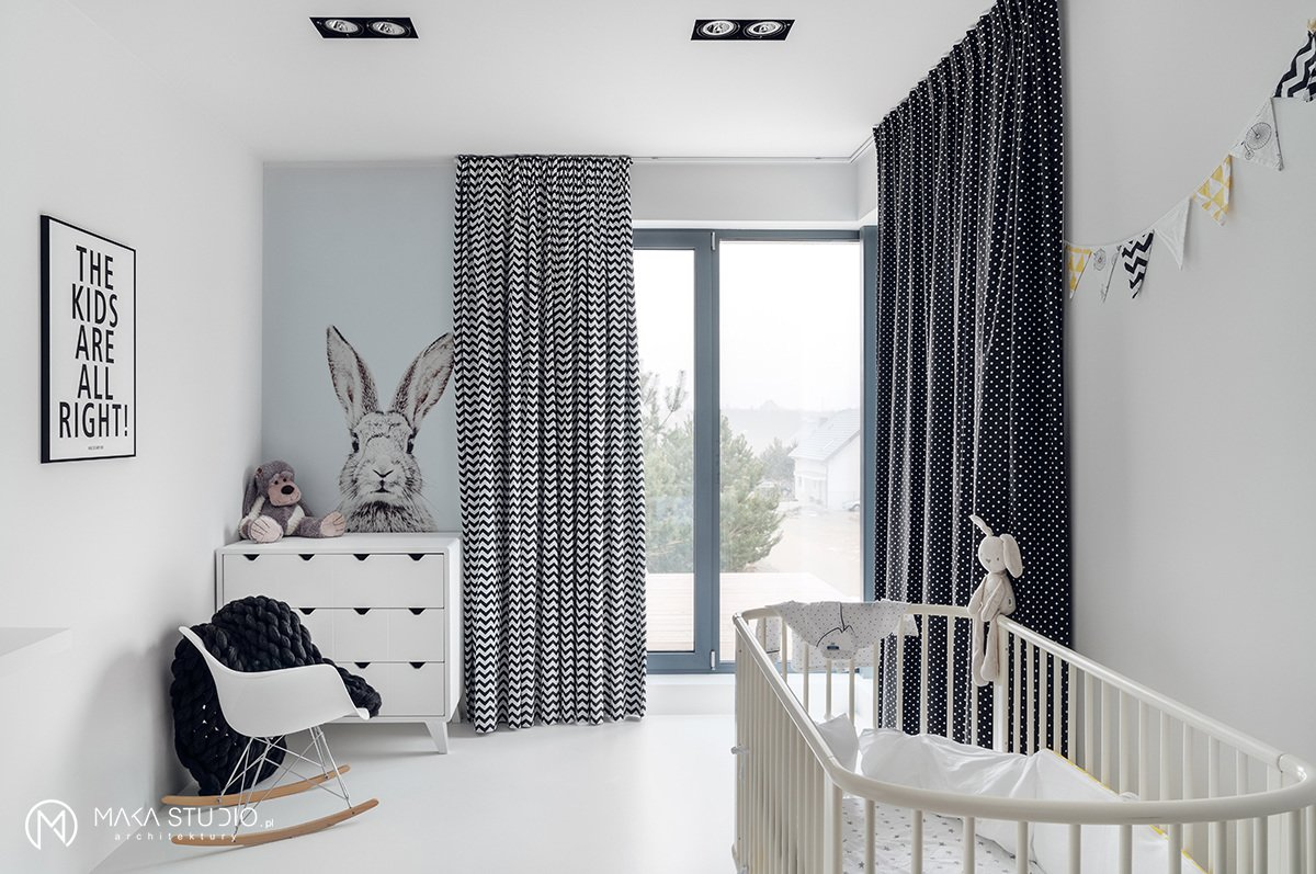 Kids, Playroom, Bedroom, Bed, Dresser, Rockers, Lamps, Chair, Toddler, Neutral, and Boy  Best Kids Playroom Boy Photos from Minimal Seaside Villa