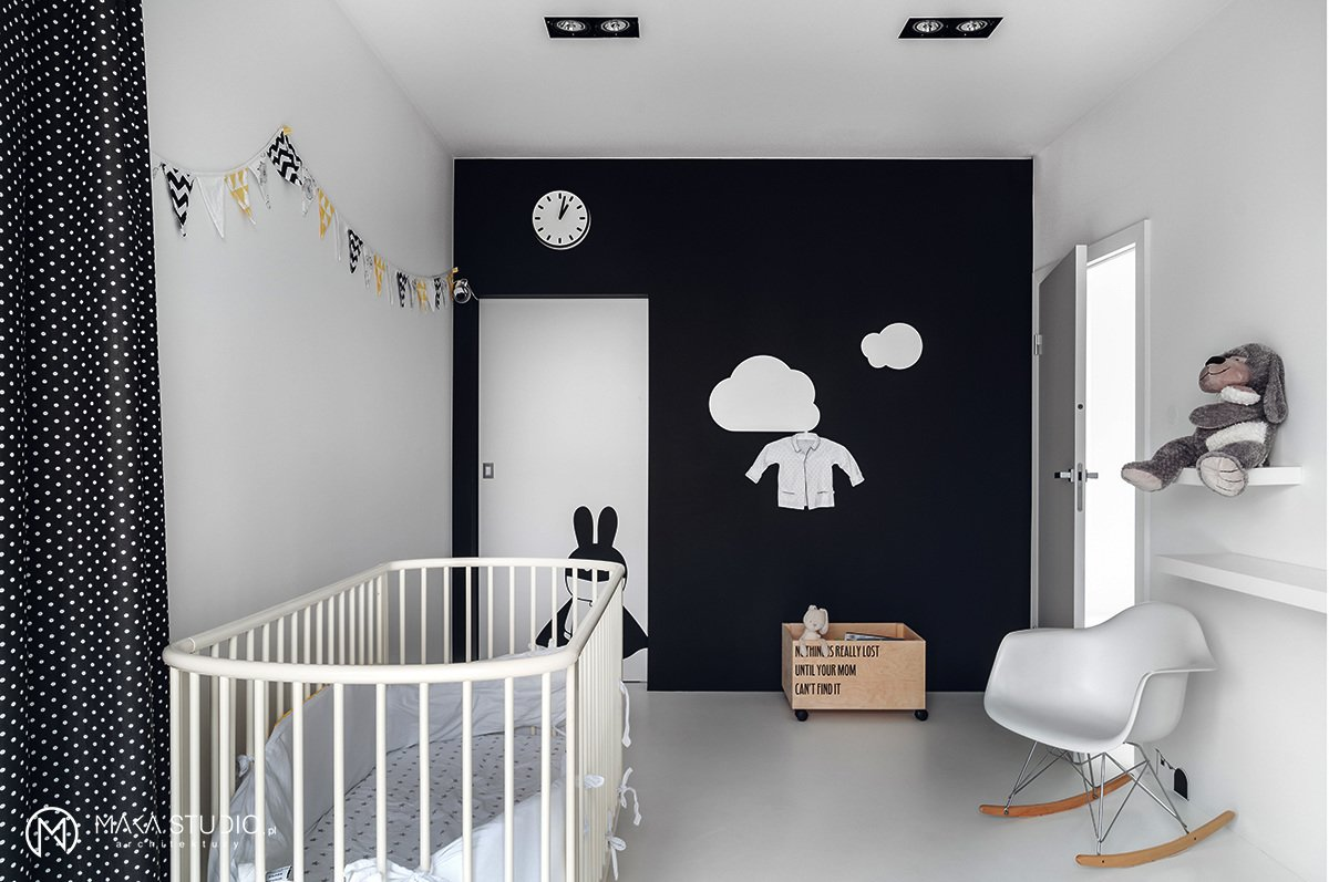 Kids, Bedroom, Bed, Playroom, Chair, Bookcase, Rockers, Boy, Toddler, and Neutral  Best Kids Playroom Boy Photos from Minimal Seaside Villa