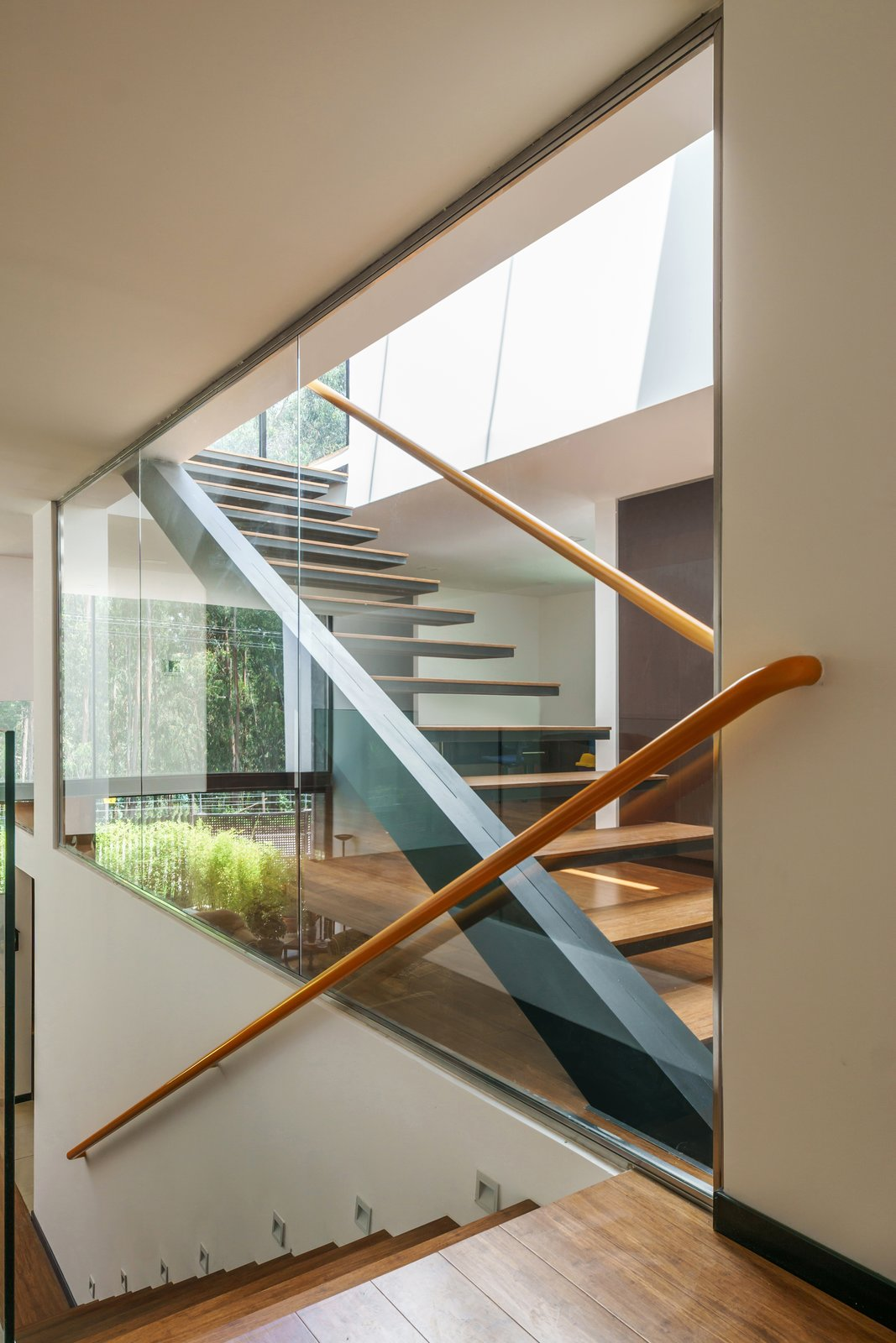 Staircase, Wood Tread, and Metal Railing  FF Houses