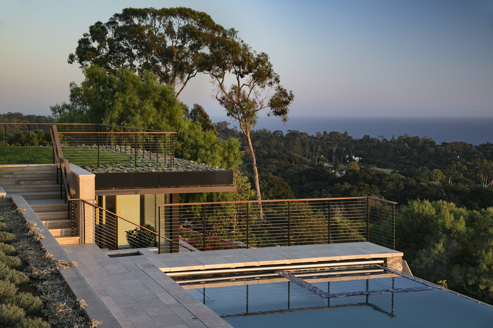 Outdoor, Large Pools, Tubs, Shower, Back Yard, Walkways, Grass, and Infinity Pools, Tubs, Shower  Best Photos from Hope Ranch Residence