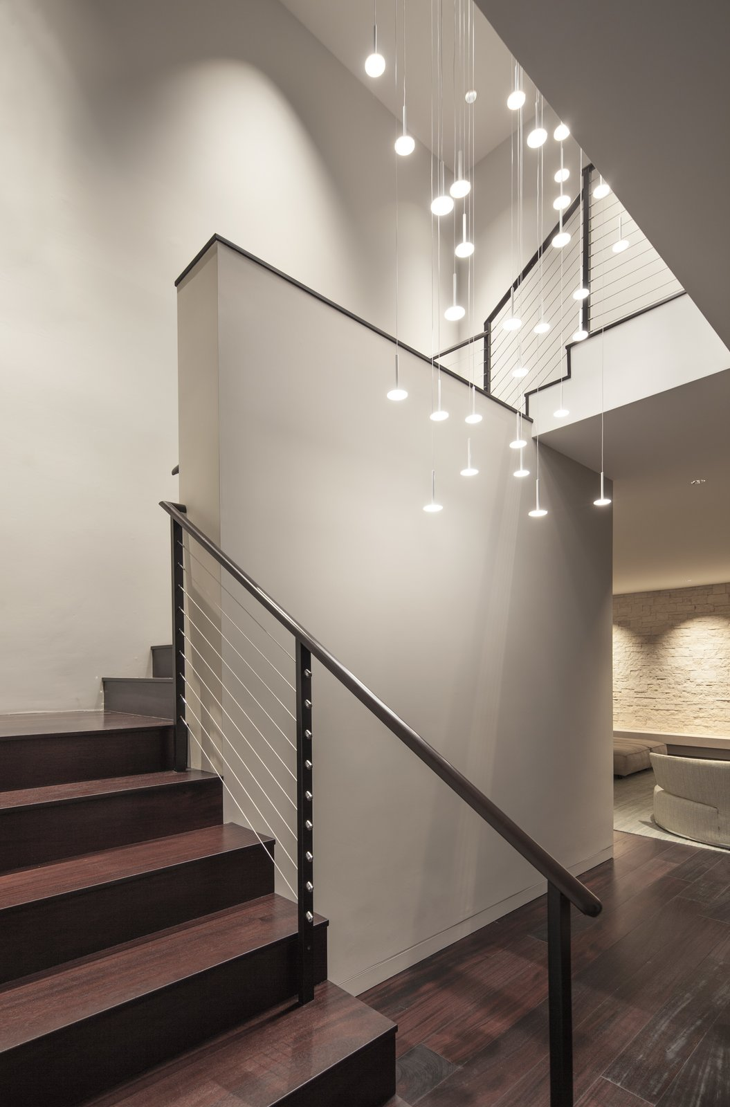 Staircase, Wood Tread, and Metal Railing  Hope Ranch Residence by Blackbird Architects