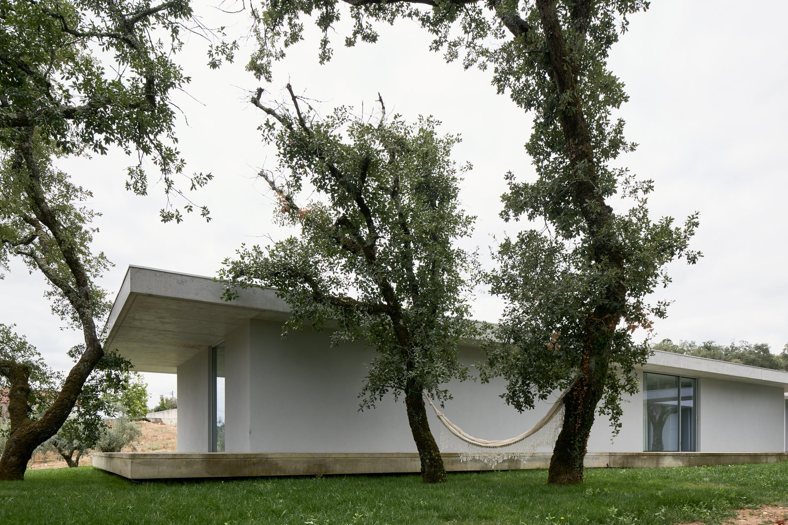 Outdoor, Concrete Pools, Tubs, Shower, and Grass  Fanu House