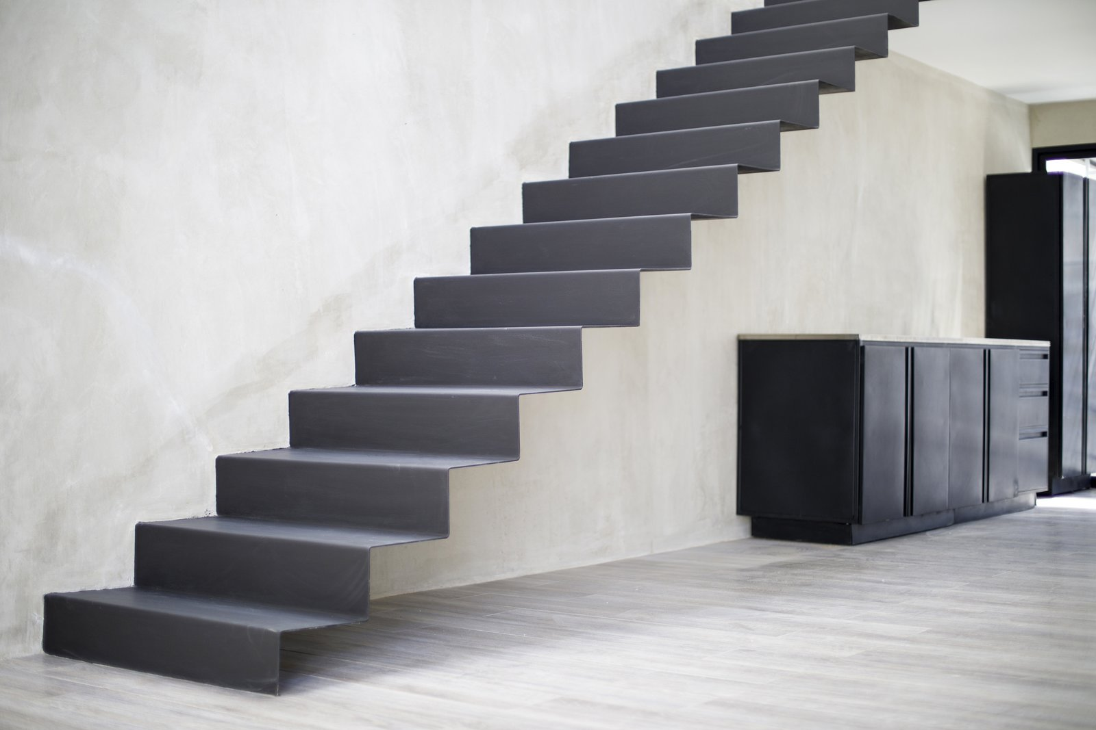 Staircase and Metal Tread  Casa Ching by MG design studio