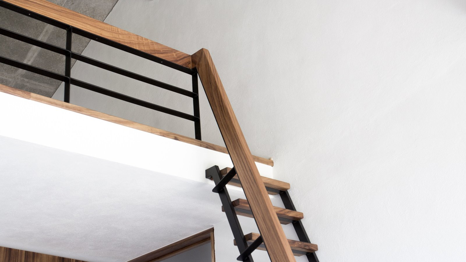 Staircase, Metal Railing, Wood Tread, Metal Tread, and Wood Railing  Casa Paraíso by DCPP by LCMX